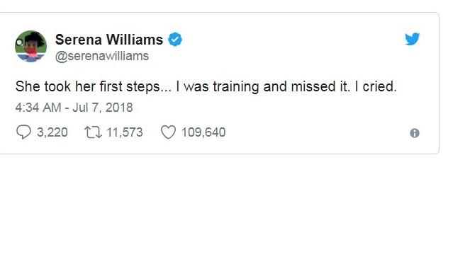 Serena Williams tweet for blog